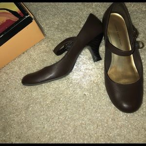 Brown baby doll heels